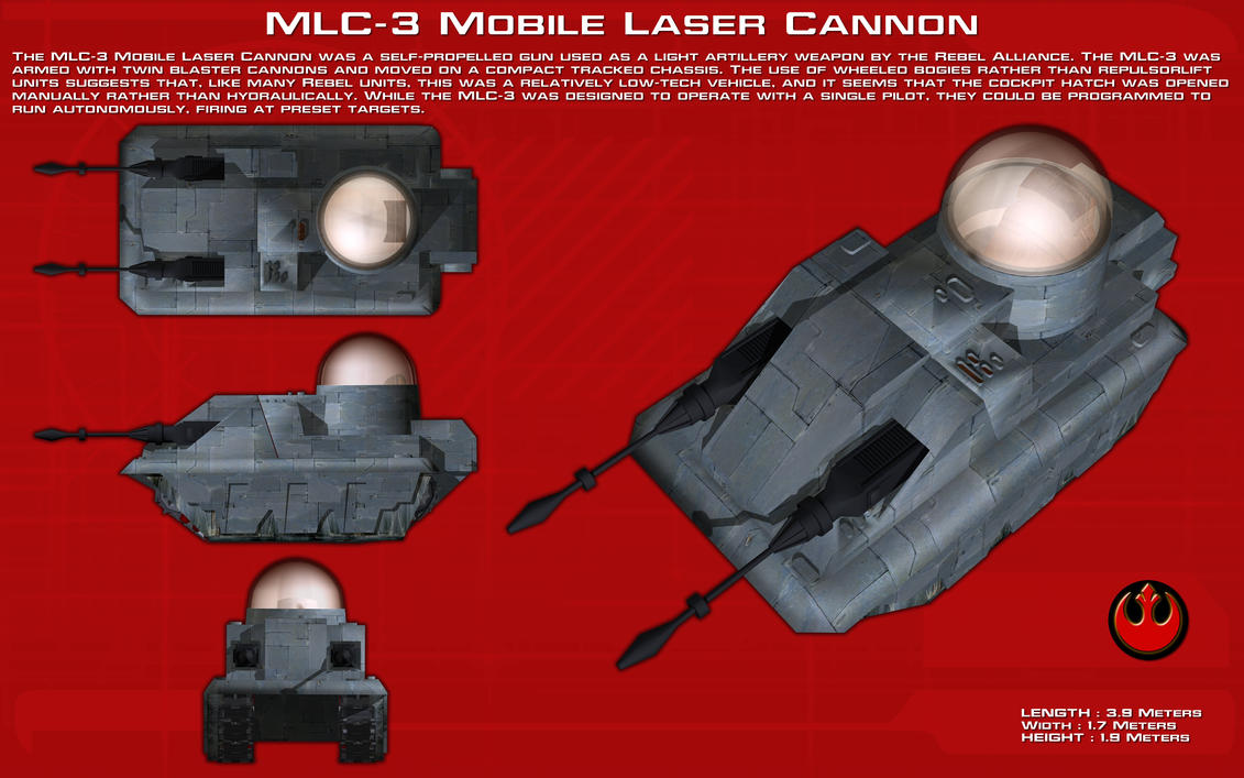MLC-3 Mobile Laser Cannon ortho [New] by unusualsuspex