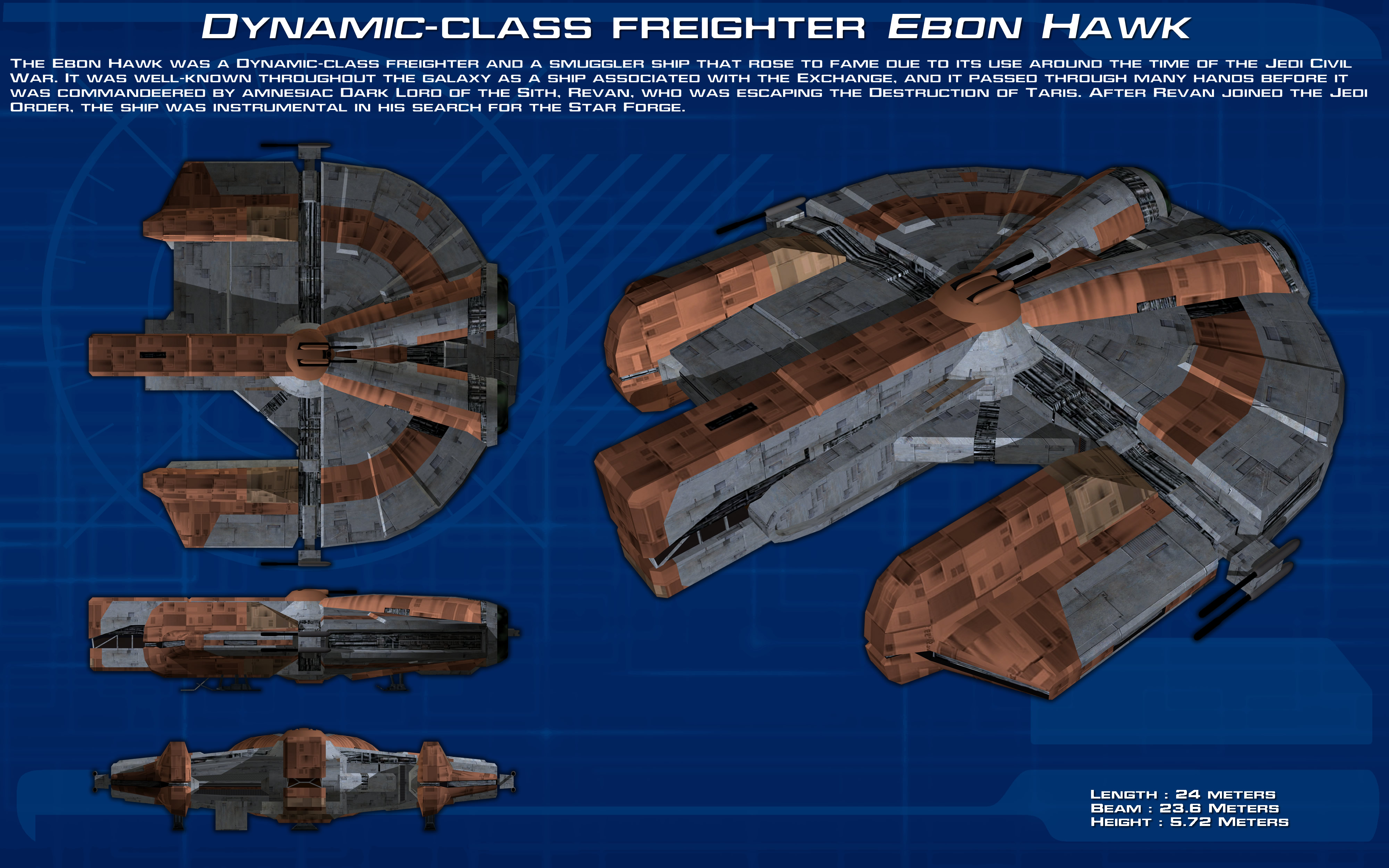 Dynamic-class Freighter Ebon Hawk Ortho [New] By