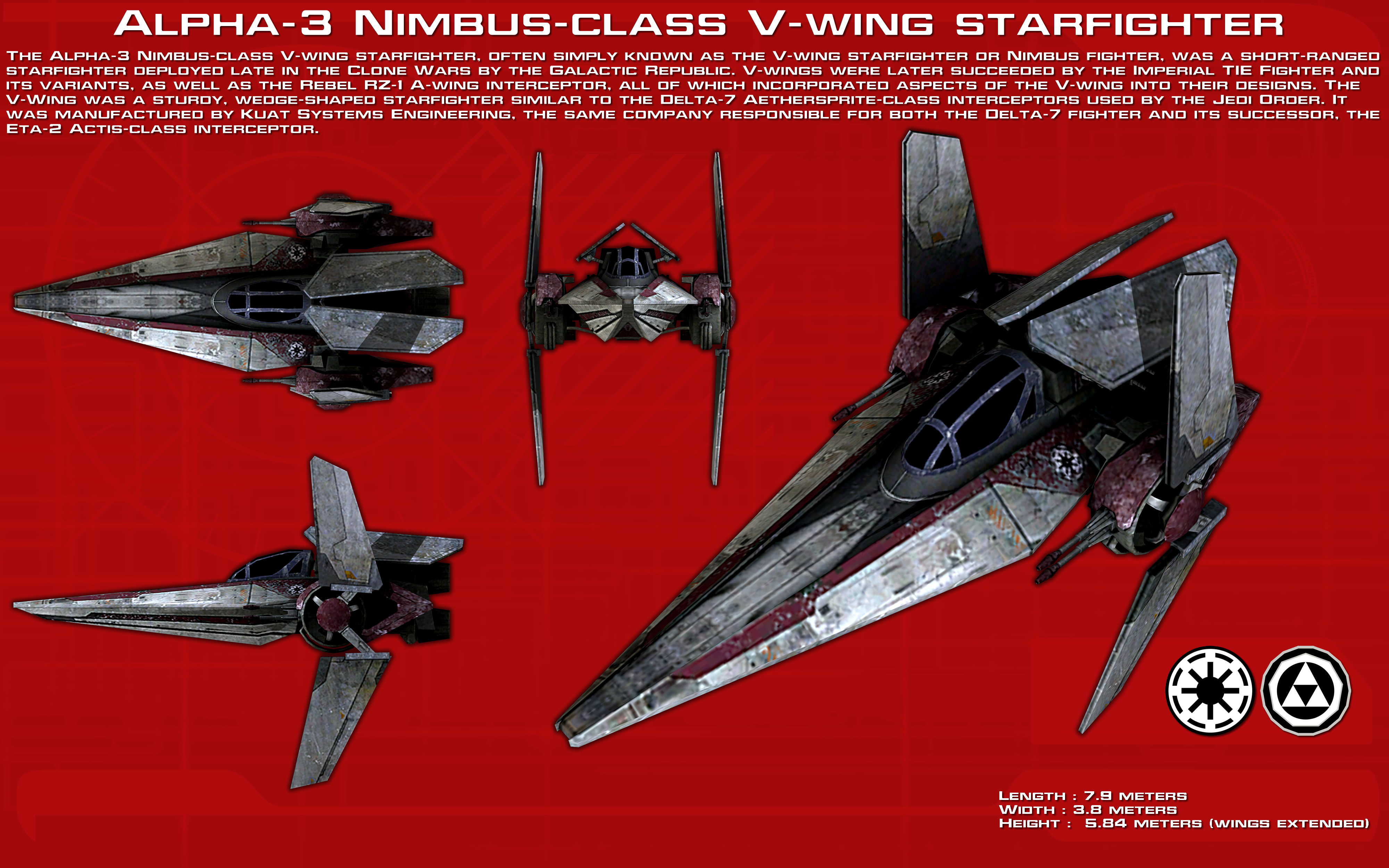 V-Wing Starfighter ortho [1][New] by unusualsuspex on DeviantArt