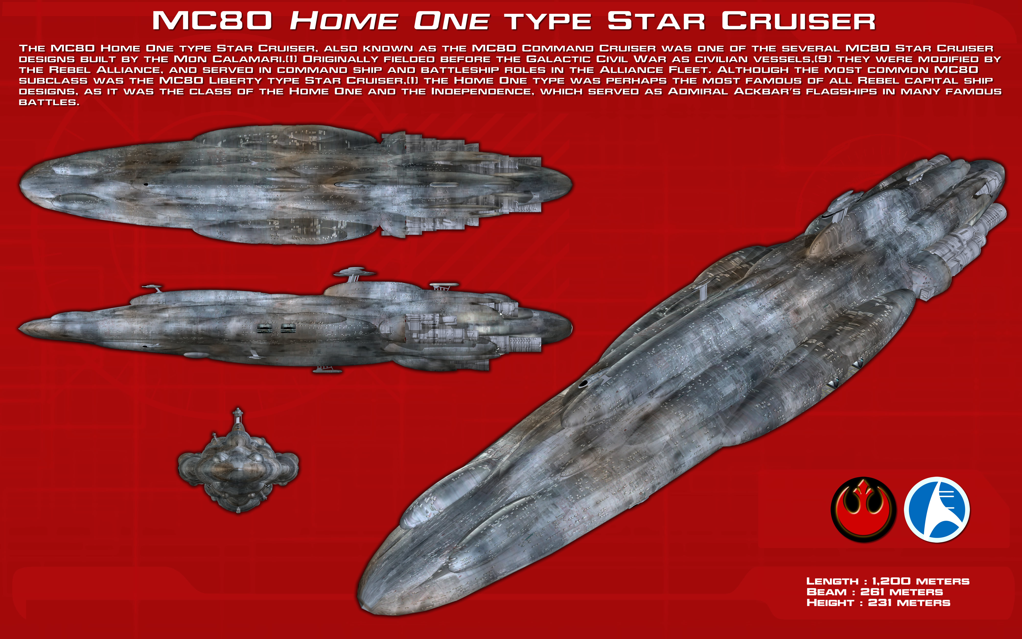 Mc80 Home One Type Star Cruiser Ortho New By