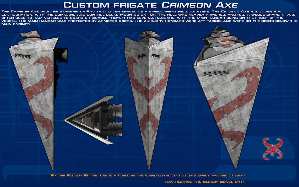 Custom frigate Crimson Axe ortho [New] by unusualsuspex