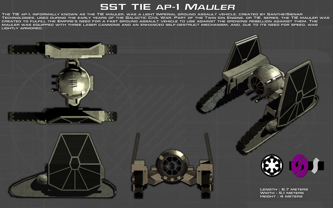 TIE AP-1 Mauler ortho [New] by unusualsuspex