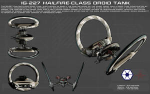 IG-227 Hailfire-class droid tank ortho [New] by unusualsuspex