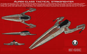 Aurek-class tactical strikefighter ortho [New] by unusualsuspex