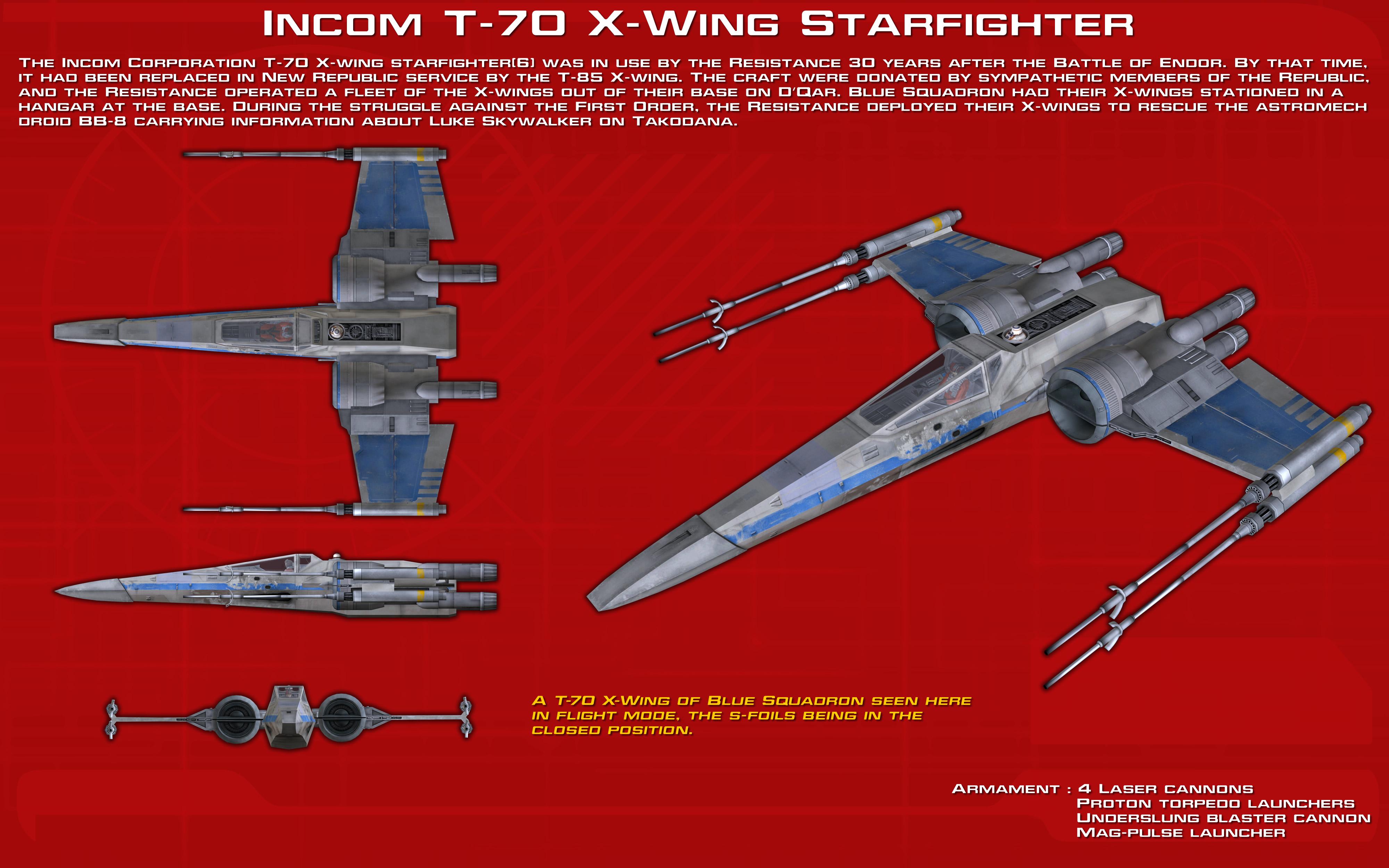 Incom T-70 X-Wing Starfighter ortho [2][Update] by unusualsuspex on on tie interceptor schematics, at-at schematics, slave 1 schematics, minecraft schematics, y-wing schematics, a wing fighter schematics, halo warthog schematics, b-wing schematics,