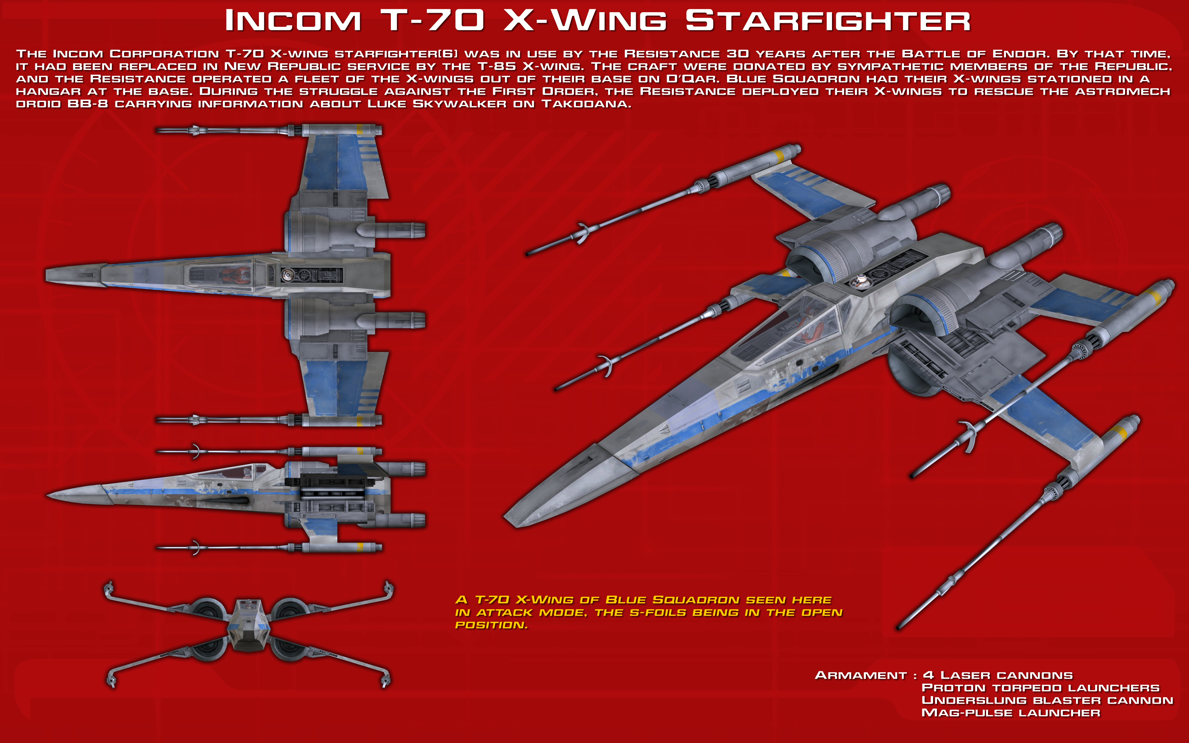 Incom T-70 X-Wing Starfighter ortho [1][Update] by ... on b-wing schematics, at-at schematics, a wing fighter schematics, tie interceptor schematics, minecraft schematics, y-wing schematics, halo warthog schematics,