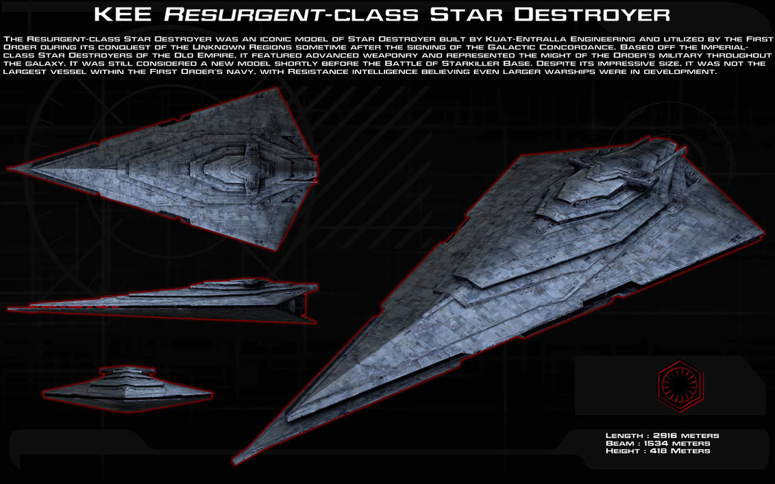 Revamp Star Wars First Order ships into Legends canon