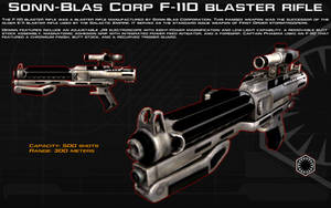 F-11D Blaster Rifle tech readout [New] by unusualsuspex