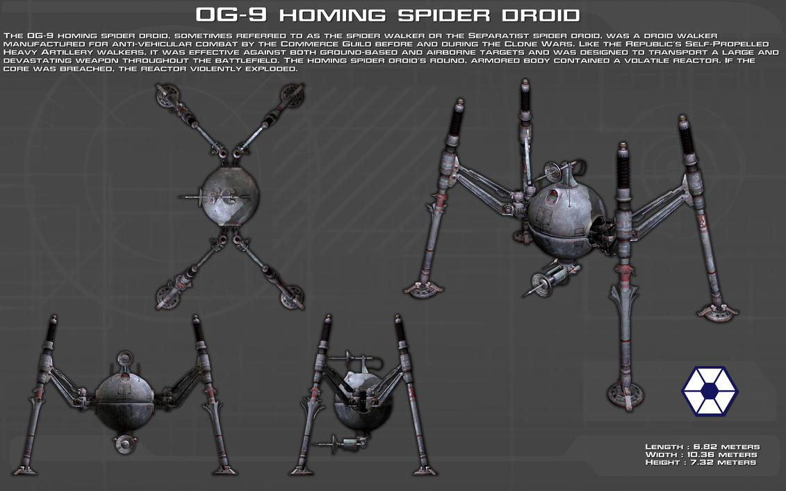 OG-9 homing spider droid ortho [New] by unusualsuspex