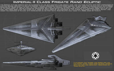 ImperialII Class Frigate Rand Ecliptic ortho [New] by unusualsuspex