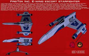 FreiTek E-wing escort starfighter ortho [Update] by unusualsuspex