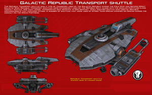 Galactic Republic transport shuttle ortho [New] by unusualsuspex