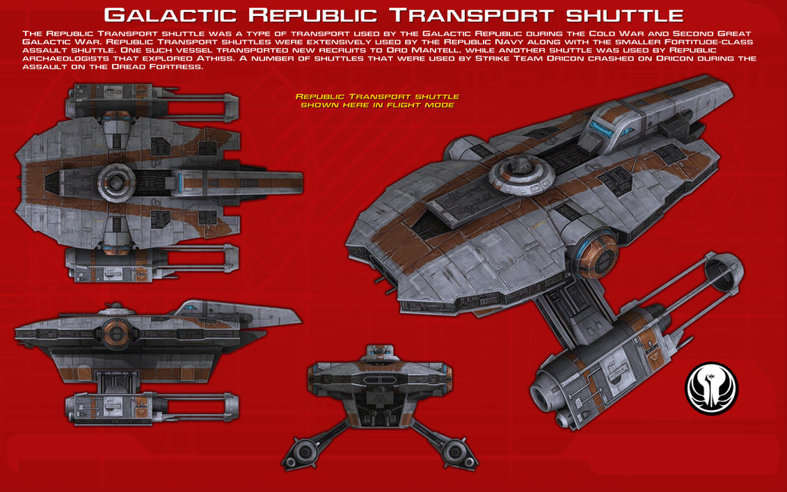 Galactic Republic transport shuttle ortho 2 [New] by unusualsuspex
