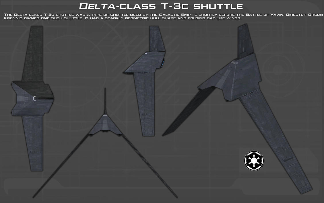 Delta-class T-3c shuttle ortho [New] by unusualsuspex on ...