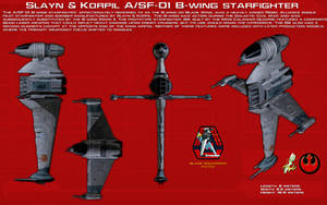 A-SF-01 B-wing starfighter ortho [Updated] by unusualsuspex