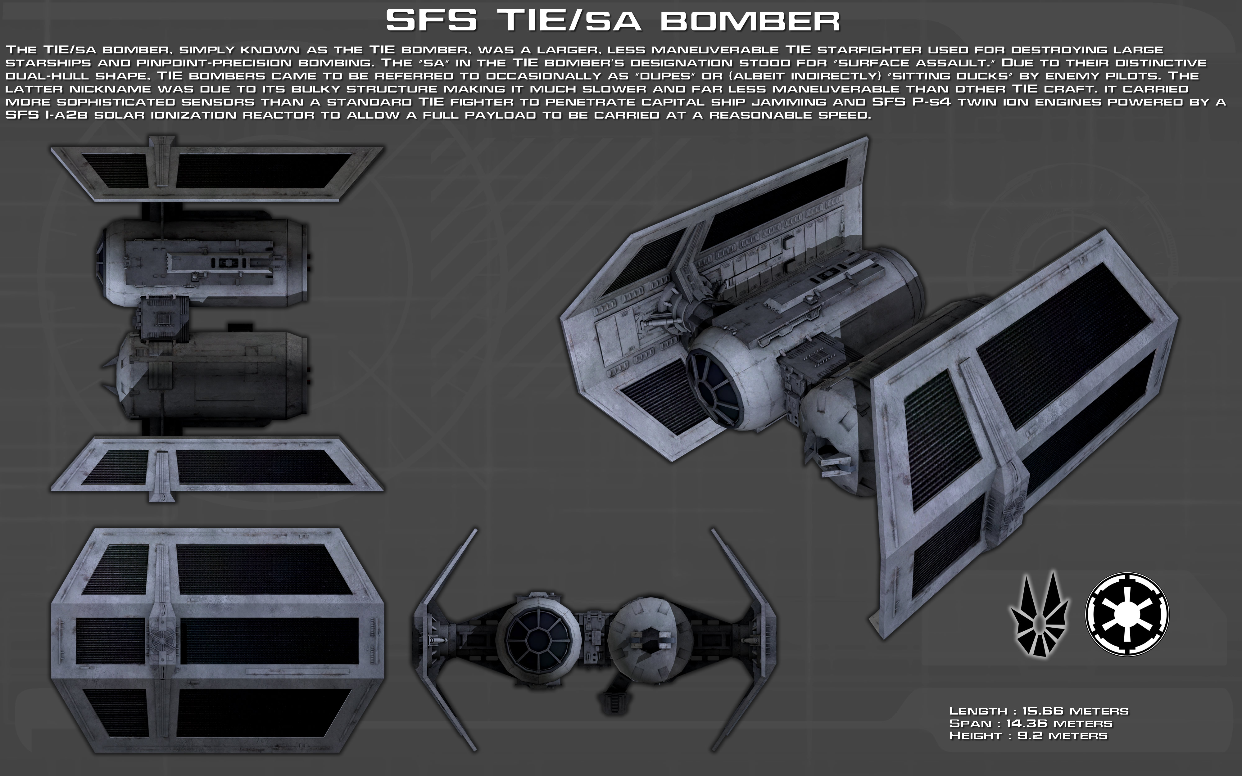 SFS TIE/Sa Bomber ortho [Updated] by unusualsuspex