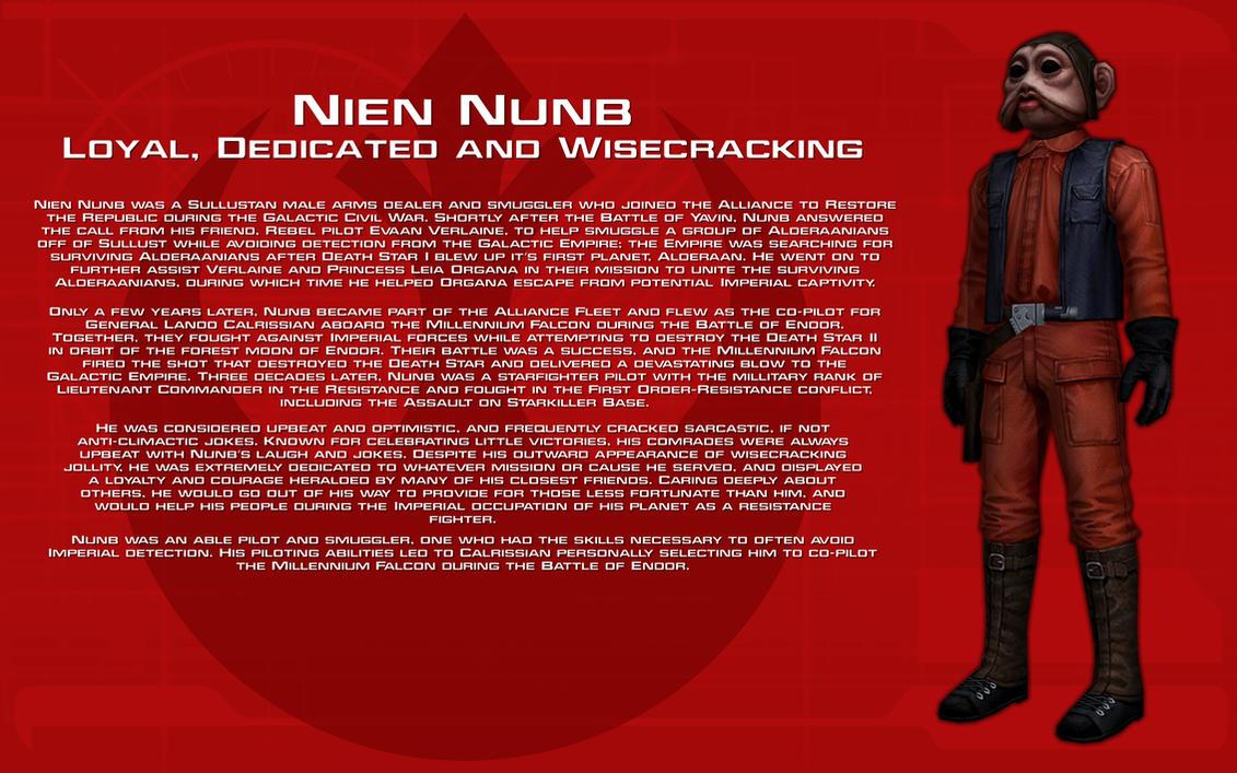 Nien Nunb character bio [New] by unusualsuspex