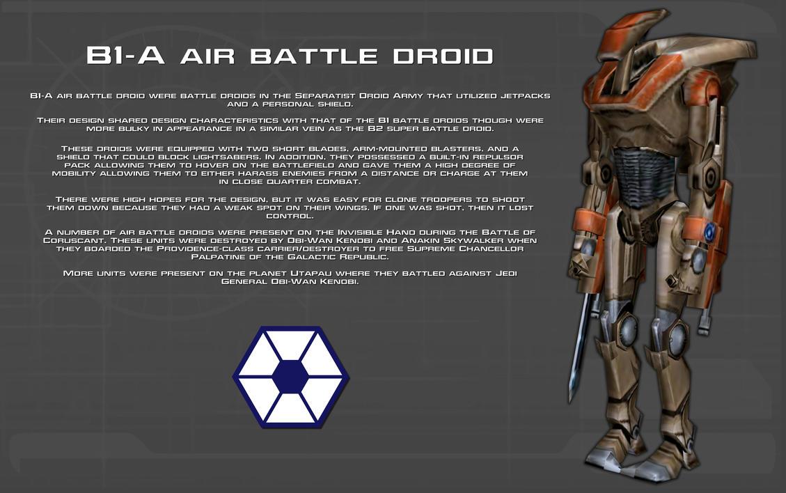 B1-A Air Battle droid tech readout [New] by unusualsuspex