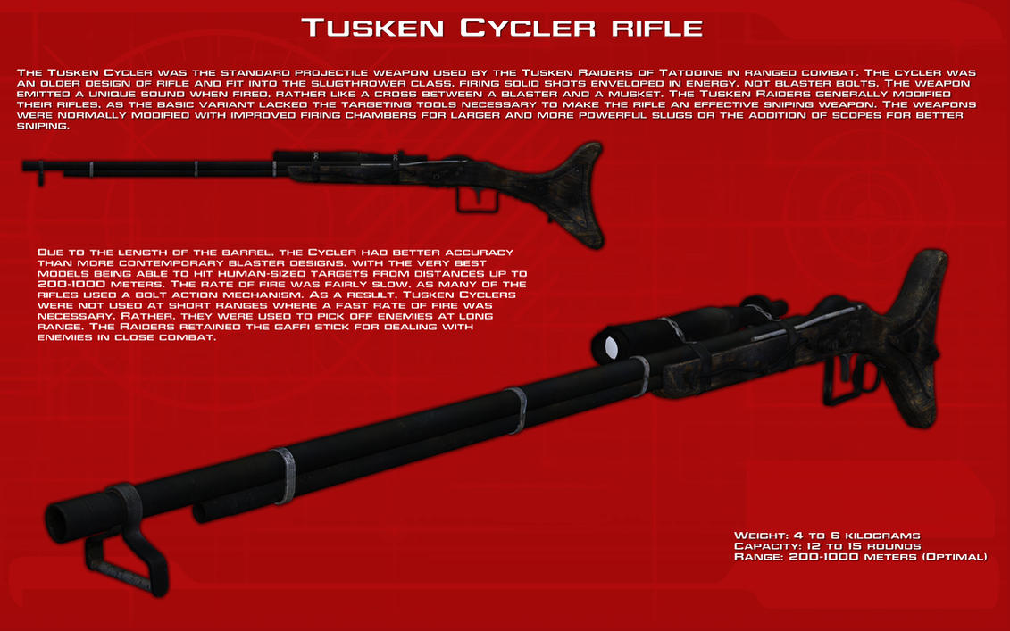 Tusken Cycler rifle tech readout [New] by unusualsuspex