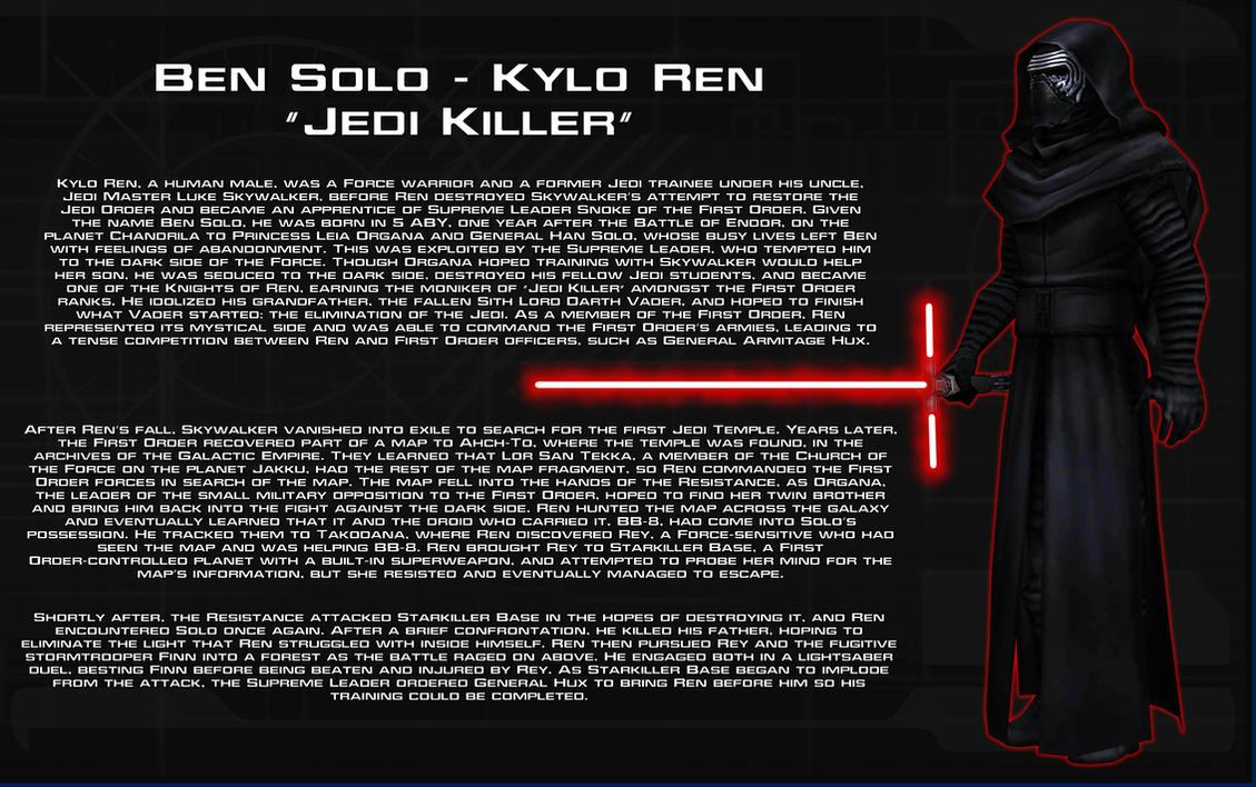 Kylo Ren character bio [New] by unusualsuspex