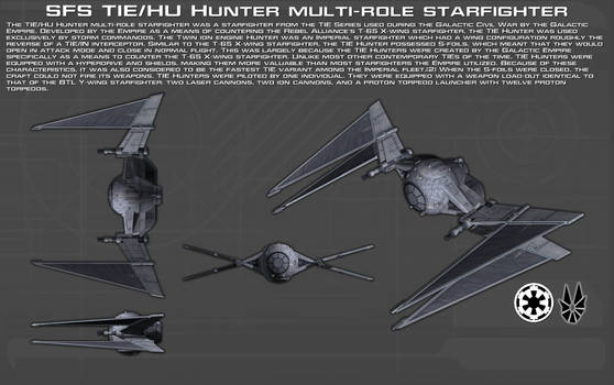 SFS TIE-HU Hunter starfighter ortho [New]