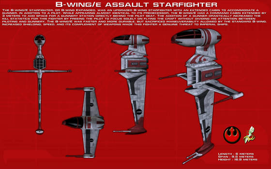 B-Wing E Assault Starfighter ortho [New]