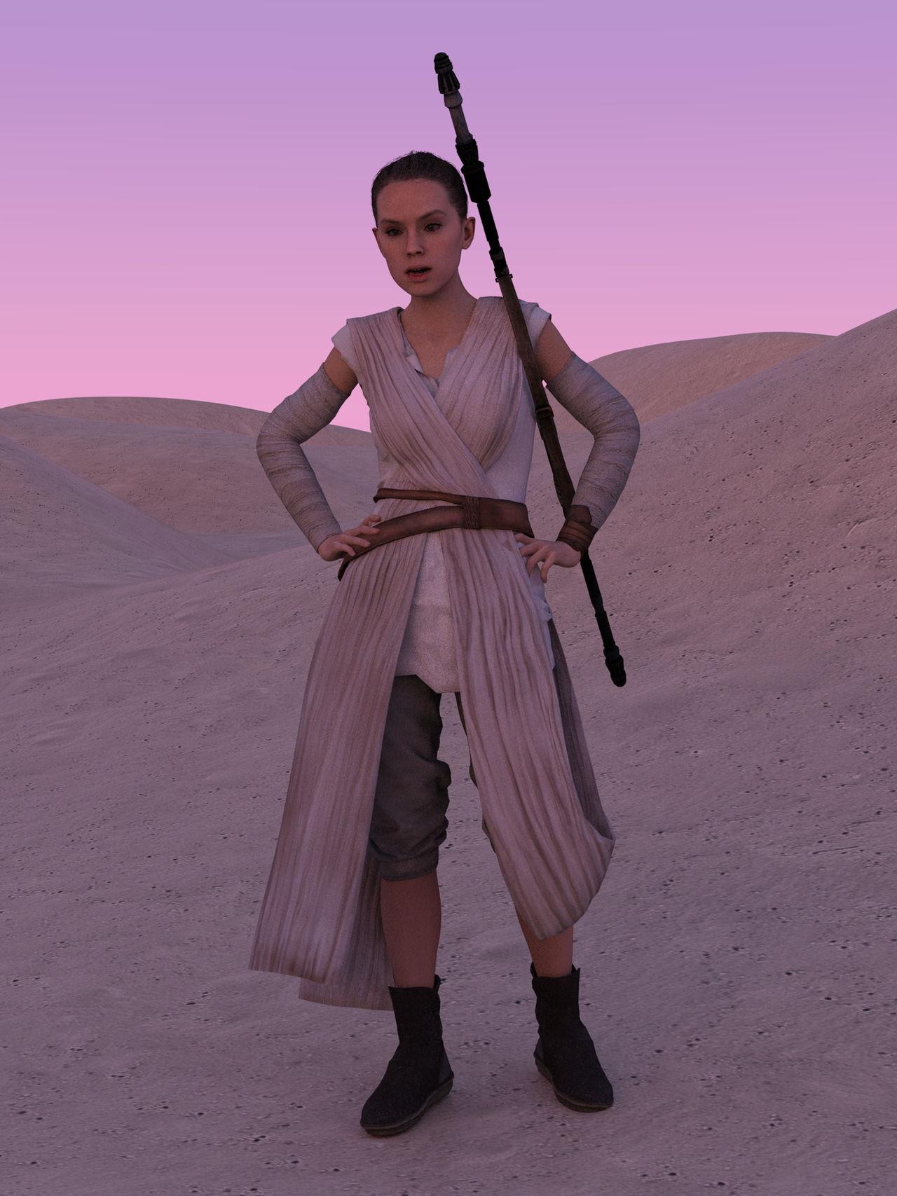 Rey in Desert