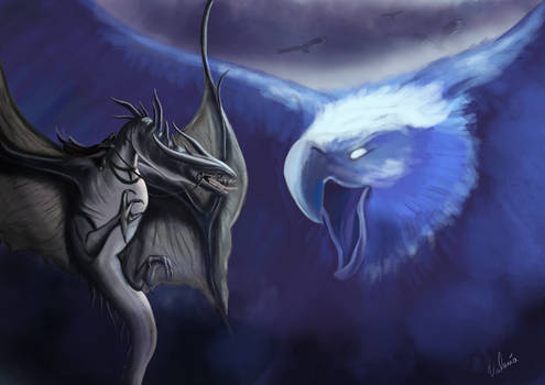 Lord of the Rings : Nazgul vs Eagle