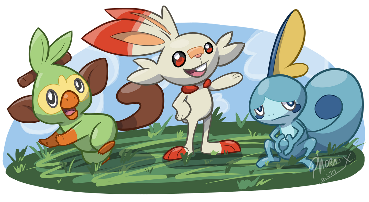 Galar Starters by phoenixsong