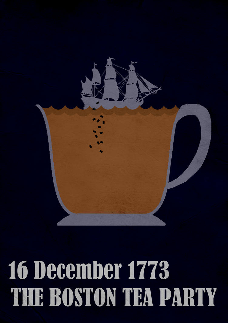 The Boston Tea Party 1773 by Thothhotep