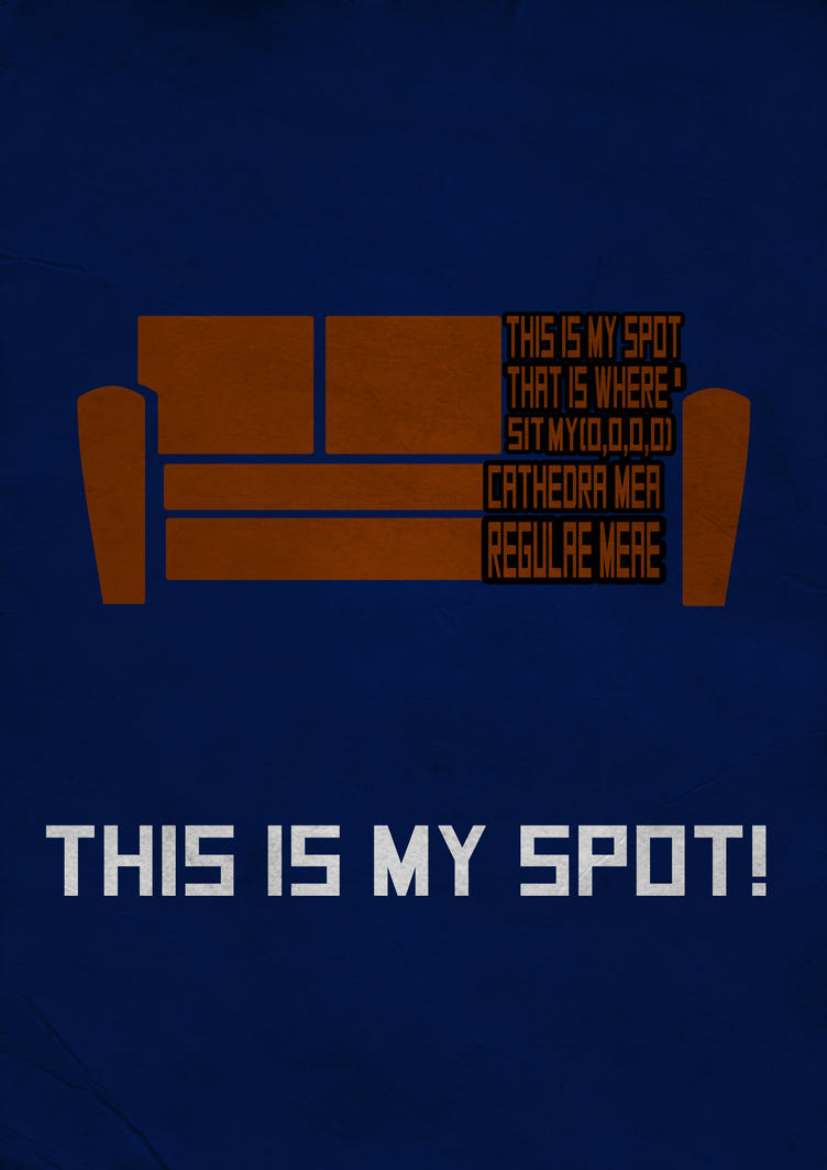 Sheldon: This is my spot by Thothhotep