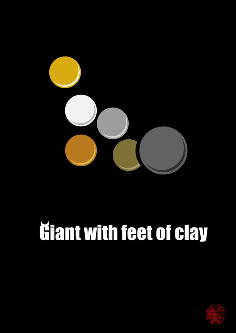 Bible Bubble: Giant with feet of clay by Thothhotep