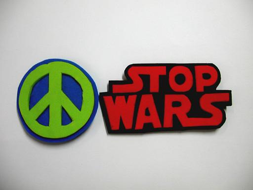 STOP WARS pins ver.1 by Didaemus
