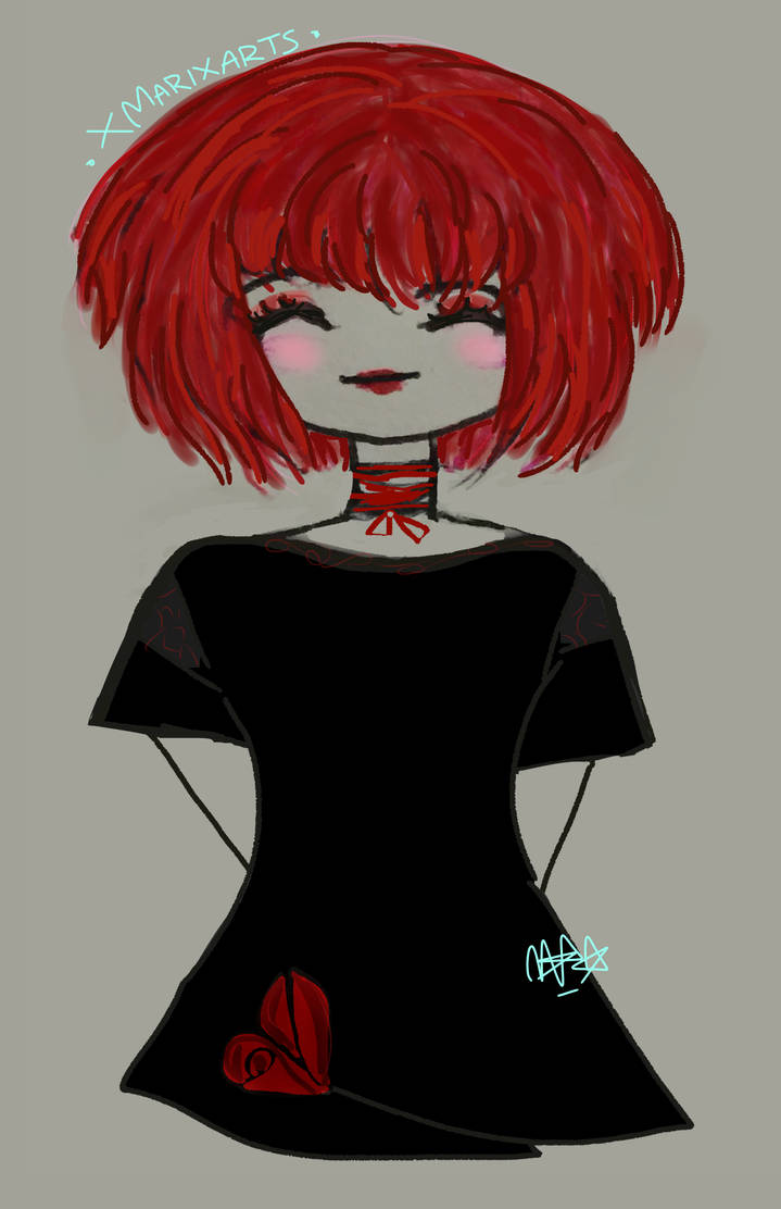 Red Rose Oc Drawing By Xmarixarts On Deviantart