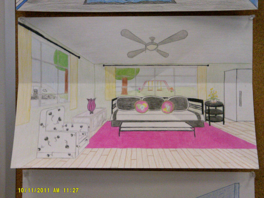 one point perspective room by shannd on deviantart