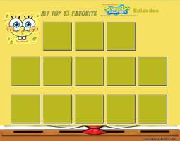 Top 13 Favorite SpongeBob SquarePants Meme by cartoonfanboyone