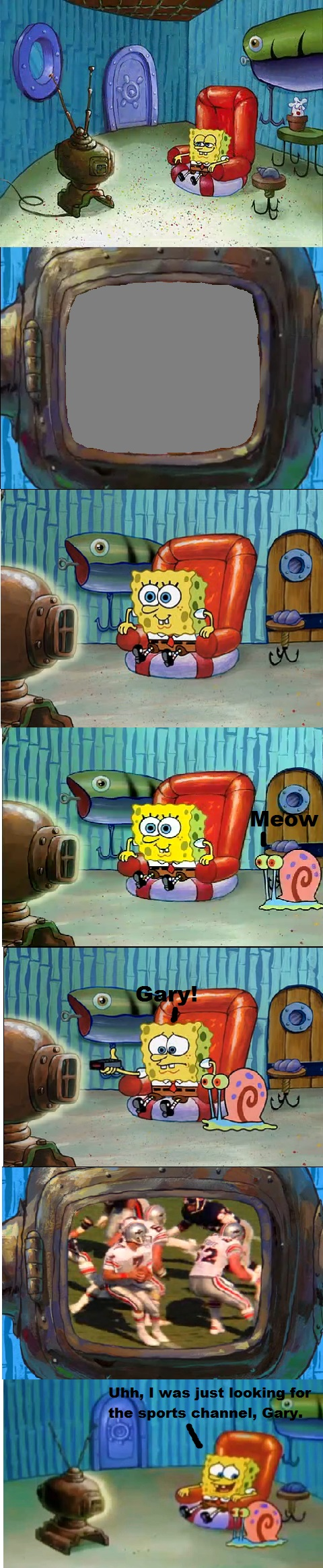 Put your embarassing Show that SpongeBob watches by cartoonfanboyone