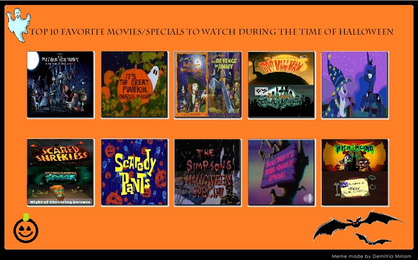My Top 10 Halloween Films and Specials by cartoonfanboyone ...