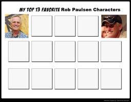 Top 13 Favorite Rob Paulsen Characters meme by cartoonfanboyone