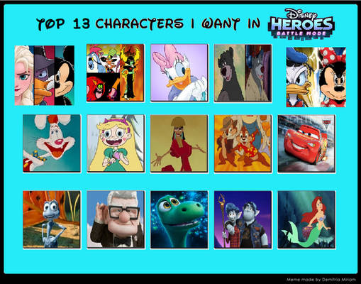 Top 13 Characters I want in DHBM