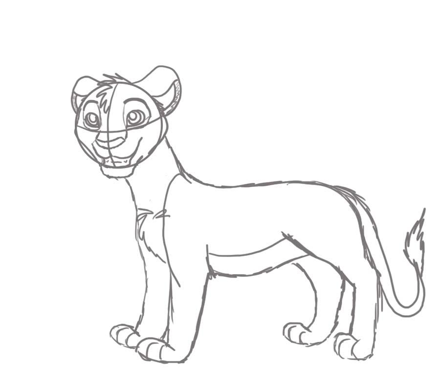 Simba sketch by fireg