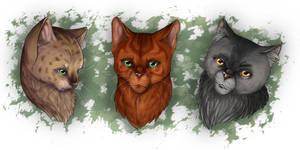 Warrior Cats - Headshots