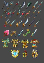 Weapons set by mozhiyaoe