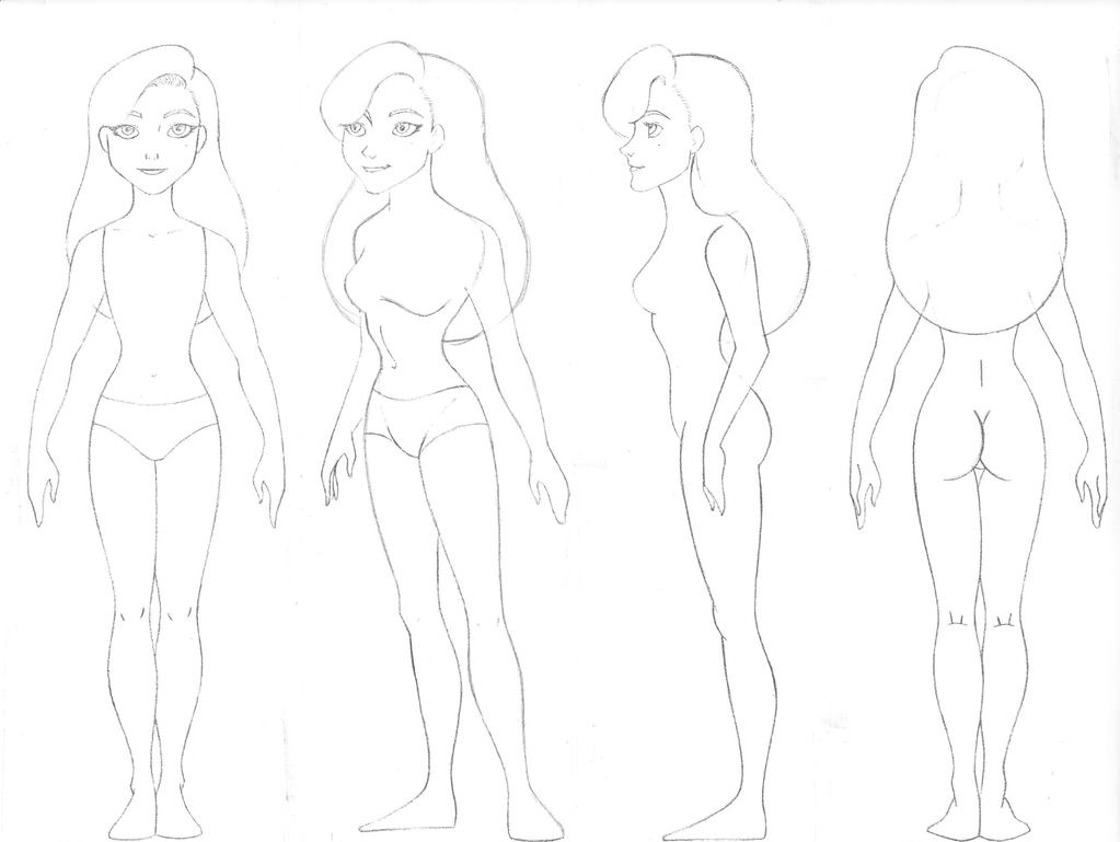 Wendy body turn around sketch by Sacha31