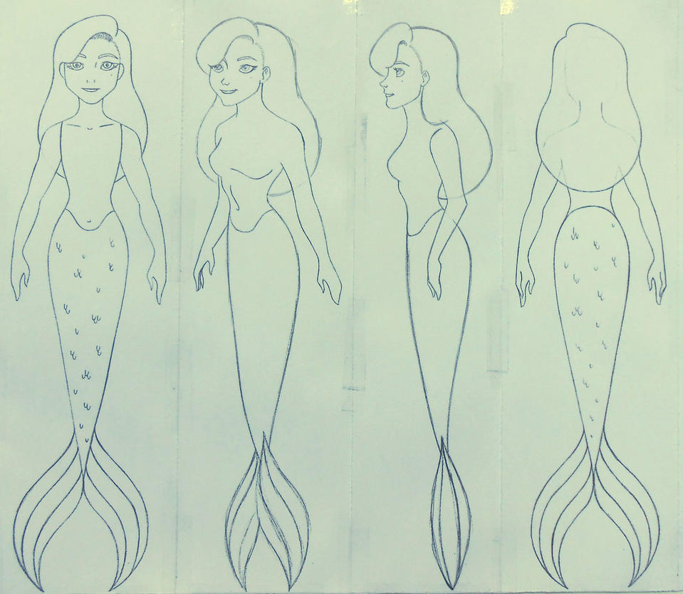 Wendy as a mermaid sketch by Sacha31