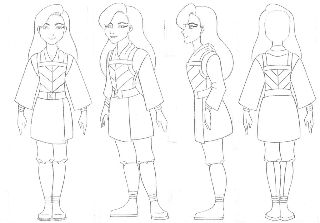 Rebelle uniform sketch (Study) by Sacha31