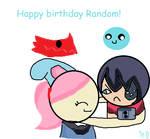 Happy birthday Random! by Azurilla12