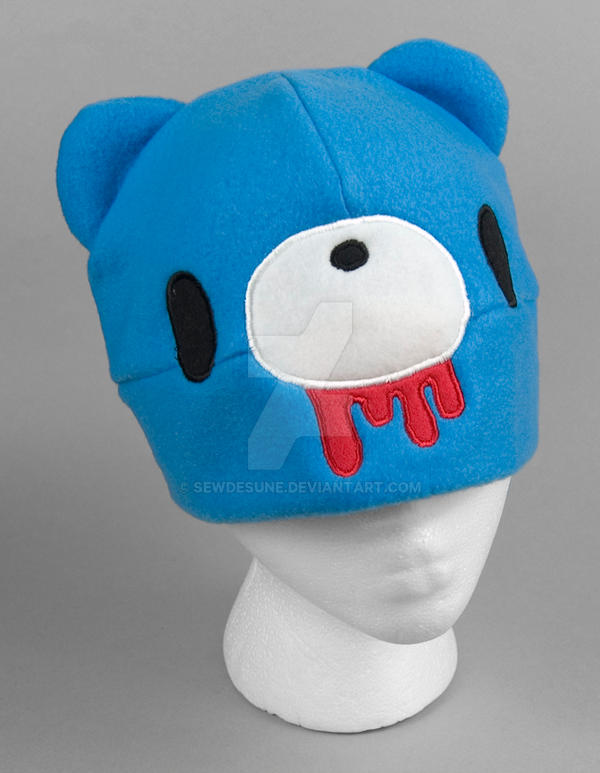 Blue Gloomy Bear Hat by SewDesuNe