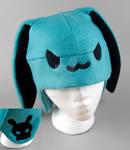 Blue Skull Bunny Hat
