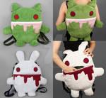 Zombie Kitty / Killer Rabbit Reversible Backpack